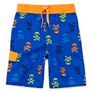 Arizona Skull-Print Swim Trunks - Boys 4-7