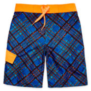 Arizona Plaid Swim Trunks - Boys 8-20
