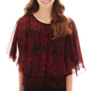 by&by Short Dolman-Sleeve Print Top