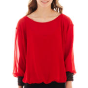 by&by Long Dolman-Sleeve Solid Top