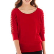 by&by 3/4-Sleeve Crochet Top