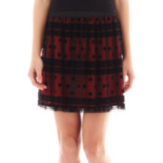 by&by A-Line Flocked Skater Skirt