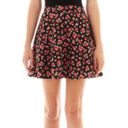 Olsenboye® Rose Scuba Skater Skirt