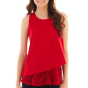 Olsenboye® Sleeveless Lace Tank