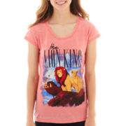 Disney Lion King Short-Sleeve Burnout Graphic Tee