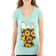 Peanuts Snoopy Short-Sleeve Burnout Graphic Tee