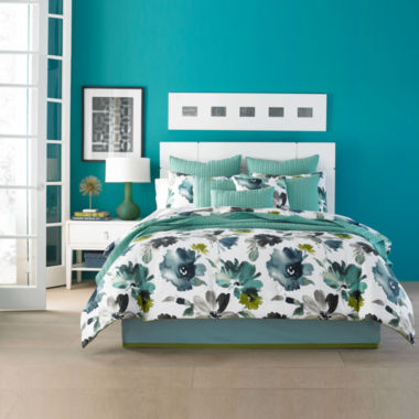 jcpenney.com | Q by Queen Street® Mia Floral Comforter Set & Accessories