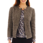 Liz Claiborne Metallic Tweed Jacket