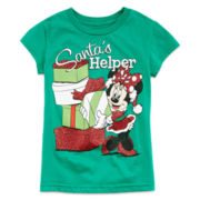 Disney Minnie Holiday Red Graphic Tee – Girls 2-12