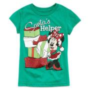 Disney Minnie Holiday Red Graphic Tee – Girls 2-12