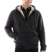 St. John's Bay® Full-Zip Sherpa Hoodie