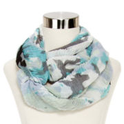 Light Floral Ruched Scarf