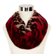 Dark Floral Ruched Scarf