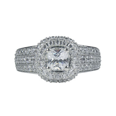 jcpenney.com | Modern Bride® Signature 1¾ CT. T.W. Diamond 14K White Gold Cushion-Cut Bridal Ring