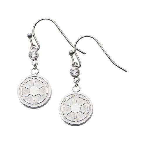 Star Wars® Stainless Steel Imperial Symbol Earrings