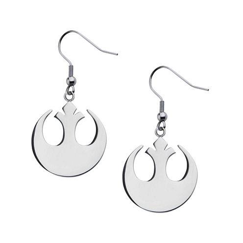 Star Wars® Stainless Steel Rebel Alliance Symbol Earrings