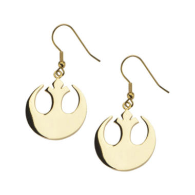 jcpenney.com | Star Wars® Gold Ion-Plated Stainless Steel Rebel Alliance Symbol Earrings