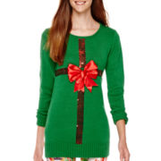 Ransom Long-Sleeve Christmas Tunic Sweater