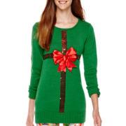 Ransom Long-Sleeve Christmas Tunic Sweater