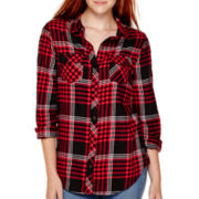 Arizona Long-Sleeve Sequin Plaid Shirt