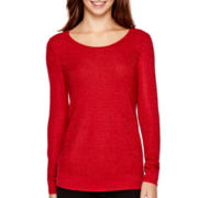 i jeans by Buffalo Long-Sleeve Shimmer Sweater Sweater
