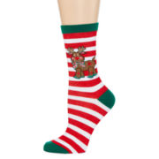Mixit™ Womens Christmas Crew Socks