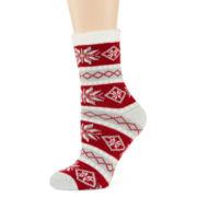 Mixit™ Womens Plush Slipper Socks
