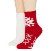 Mixit™ Womens 2-pk. Cozy Crew Socks