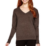 i jeans by Buffalo Long-Sleeve V-Neck Colorblock Sweater