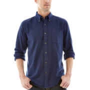 St. John's Bay® Solid Flannel Shirt