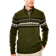 St. John's Bay® Quarter-Zip Sweater
