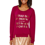 Decree® Long-Sleeve Glitter Sweatshirt