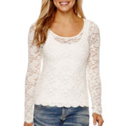 Decree® Long-Sleeve Lace Top