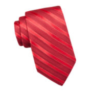 Stafford® Jefferson Striped Silk Tie - Extra Long