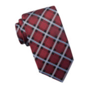 Stafford® Buffalo Grid Silk Tie - Extra Long