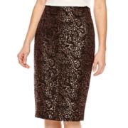 Worthington® Jacquard Pencil Skirt
