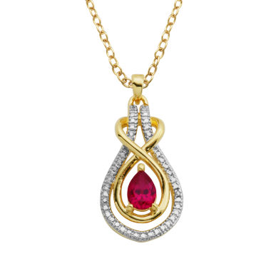 jcpenney.com | Sparkle Allure Red Ruby Pendant Necklace