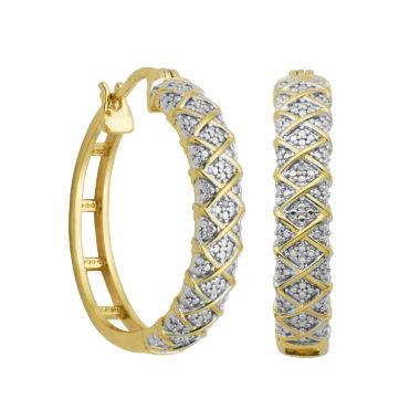jcpenney.com | Sparkle Allure White Diamond Hoop Earrings