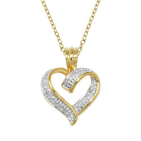 Sparkle Allure Womens White Diamond Accent Pendant Necklace