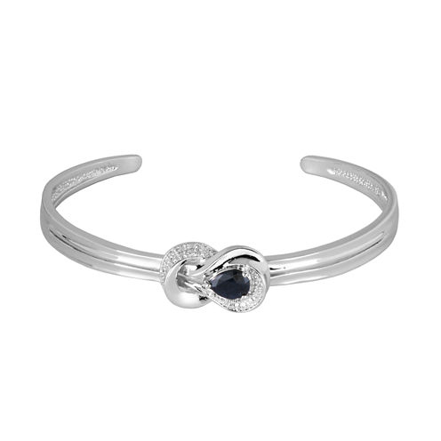 Sparkle Allure White Diamond Cuff Bracelet