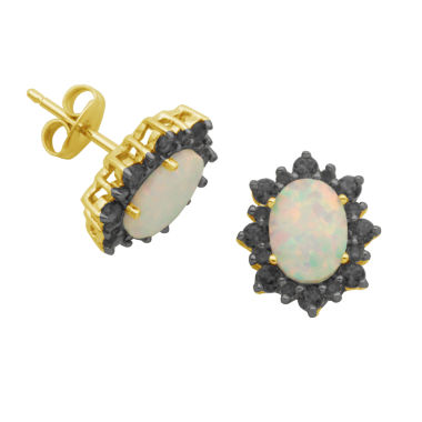 jcpenney.com | Sparkle Allure Oval Multi Color Stud Earrings