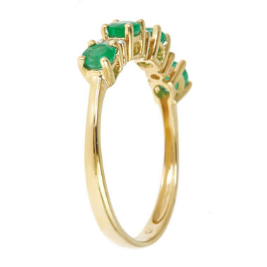 jcpenney.com | Womens Diamond Accent Green Emerald 10K Gold Band