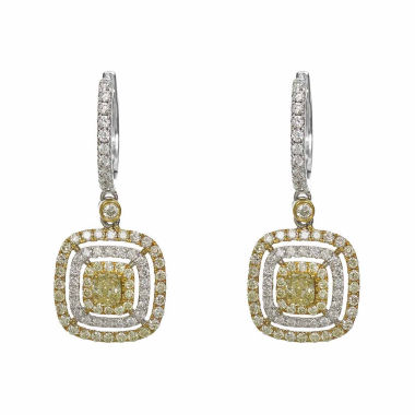 jcpenney.com | 1 1/5 CT. T.W. Yellow Diamond 18K Gold Drop Earrings