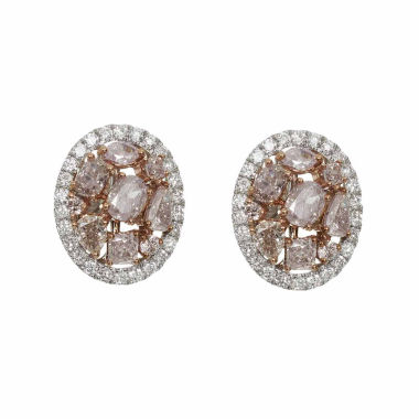 jcpenney.com | 2 1/3 CT. T.W. Pink Diamond 18K Gold Stud Earrings