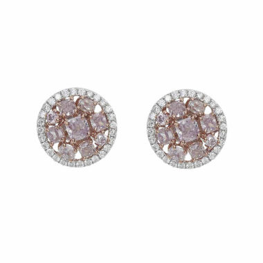 jcpenney.com | 2 1/5 CT. T.W. Pink Diamond 18K Gold Stud Earrings