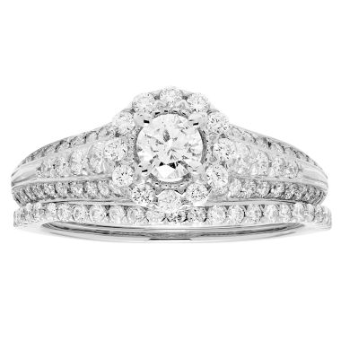 jcpenney.com | Certified Diamonds Womens 1 C.T.T.W 14K White Gold Bridal Set