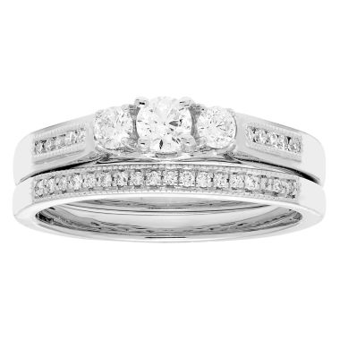 jcpenney.com | Certified Diamonds Womens 1/2 C.T.T.W 14K Gold Bridal Set