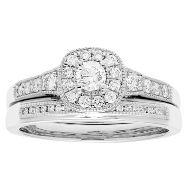 jcpenney.com | Certified Diamonds Womens 1/2 CT. T.W. White Diamond 14K Gold Bridal Set