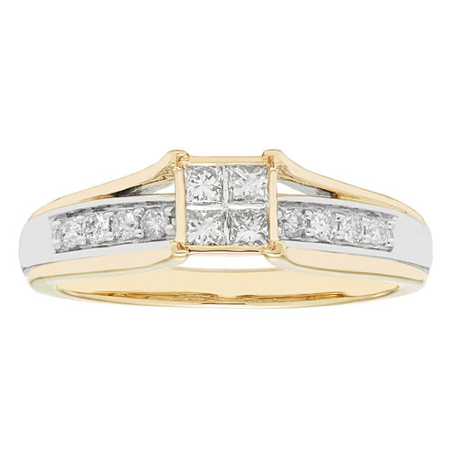 Womens 10K 1/3Ct Ring
