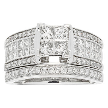 jcpenney.com | Womens 1 1/2 CT. T.W. White Diamond 14K Gold Bridal Set